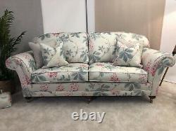 Duresta 3 seat sofa +footstool +door stop Sandersons Chestnut tree used