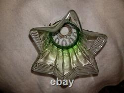 Edwardian Art Nouveau Glass light Shade and gallery c1910
