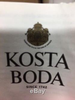 Elegant Kosta Boda Can- Can Vase Signed By Kjell Engman Purple Green Mint Green