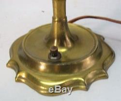 Fine 15.5 DURAND ART GLASS Torchiere Lamp c. 1920 antique