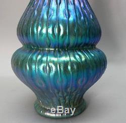 Fine Antique 12.5 KRALIK SEA URCHIN Art Glass Vase c. 1910 Bohemian antique
