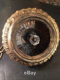 Fine Antique Petite French Empire Art Nouveau 3 Arm Gilt Bronze Chandelier C1920