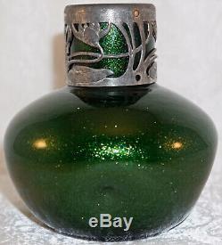 Franz Welz Klostergrab / Kralik Solid Green Aventurine Vase Bohemian Art Glass