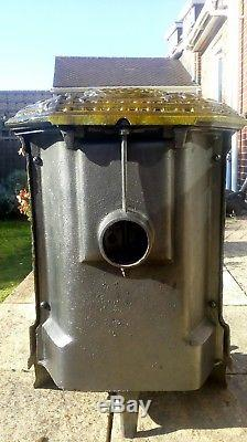 French Antique Green Enamel Woodburner/Solid Fuel/Bio Ethanol Stove. Lily c1920s