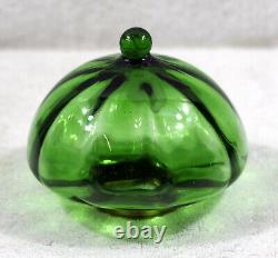 French Int. Ribbed Green + Pierced Art Nouveau Brass Candle Stick Peg Oil Lamp