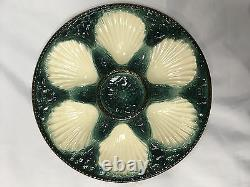 French Majolica Oyster Plate by Longchamp c. 1900