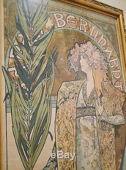 GISMONDA by Alphonse Mucha, c. 1895, Original Poster, France. VERIFIED! RARE