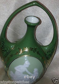 Gebruder Heubach Schutz Marke Pate-sur-pate Cameo Vase 7 Art Nouveau Germany