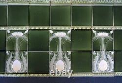 Germany Villeroy & Boch Antique Art Nouveau Majolica 54-set Tile C1900