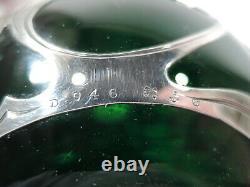 Gorham Perfume D946 Art Nouveau Bottle American Green Glass Silver Overlay