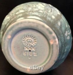 Green/Blue Rookwood 2 Handled Decorated Vase XXX 1930 # 6102 EXC 6