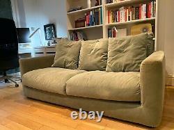 Habitat Rupert. Uk 3st Sofa Sage Velvet