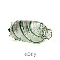 James Powell Art Nouveau Green Trailed Glass Decanter 1900