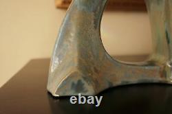 Julius Dressler Art Nouveau Pottery Amphora Matte Green Austria c 1900