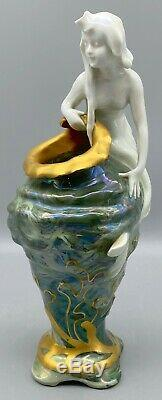 KRONACH Marbled Water Nymph Mermaid Vase Rosenthal Bauer & Co