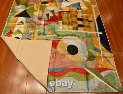 Kandinsky Tapestry 2.5ftx4ft Composition Green Wall Hanging Carpet Art Silk