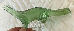 Lalique Lizard Salamander Green Crystal Figurine Paperweight 7x3