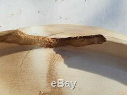 Large ANTIQUE MAJOLICA ASPARAGUS ARTICHOKE SERVING PLATTER TRAY DISH LUNEVILLE