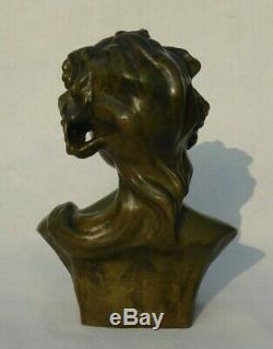 Large Antique Bronze Sculpture By Jef Lambeaux Antwerp Bacchante Wine Bacchus
