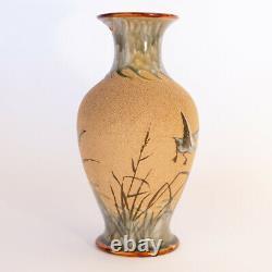 Large Doulton Lambeth Florence Barlow Vase