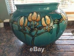 Large Minton Secessionist Tube Lined Jardiniere No 1 Art Nouveau c1910 Plant Pot