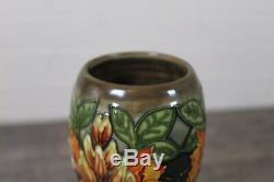 Large Moorcroft Green & Orange Art Nouveau Floral Design Double Gourd Vase