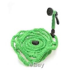 Latex 75 100 FT Expanding Flexible Garden Water Hose with Spray Nozzle