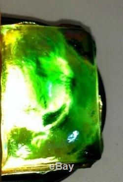 Lct Tiffany Green Favrile, Rectangular Turtleback Tile, Rare