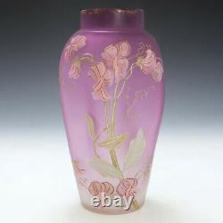 Legras Mont Joye Enamelled Vase c1905