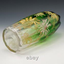Legras Mont Joye Gilded and Enamelled Vase c1900