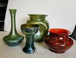 Loetz Art Glass Vase Decorated Waves Signed