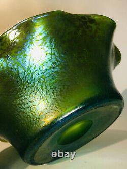 Loetz Crete Papillon Large Glass vase Bowl Glas Verre