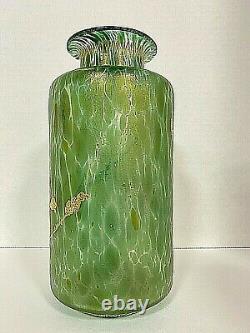 Loetz Grun Cisele Dek I/539 Decor Vase With Gold Decoration