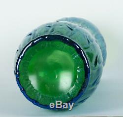 Loetz Iridescent Glass Creta Silberiris Neptun Blue / Green Vase Circa 1900s