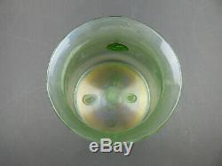 Loetz Olympia Glatt vase with prunts iridescent green Lobmeyr Art Nouveau