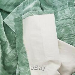 Made In UK Art Nouveau Mint pair of Curtains Heavy Velvet Chenille 90w x 90L