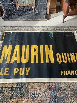 Maurin Quina by Leonetto Cappiello 1906 Original 3 Sheet Huge Poster Green Devil