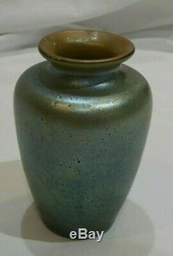 Mercur Decor Iridescent Art Nouveau Petite Art Glass Vase by Loetz