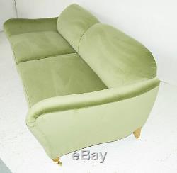 New Hand Built Victorian Style Velvet Sofa