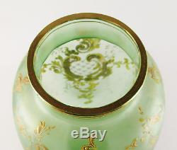 Nice Antique Art Nouveau LOETZ Olympia Enameled Art Glass Vase ca. 1896 Moser Era