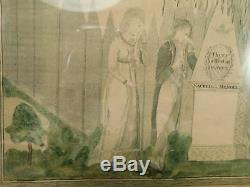Original Engraving 1800's There is Rest in Heaven American Mourning