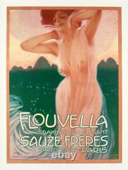 Original Poster L. Metlicovitz Flouvella Perfume Sauzé Frères Luxury 1910