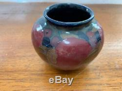 Original William Moorcroft Pomegranate Vase Signed in Green Stamped Burslem M66