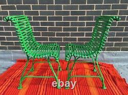 Pair Of Original Arras S Sauveur Wrought Iron Garden Chairs Circa 1900-1910