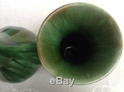 Pair of Art Nouveau Pilkington's Royal Lancastrian Drip Glaze Vases Shape 2816