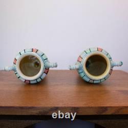 Pair of Tall Minton Pottery Secessionist Art Nouveau Vases