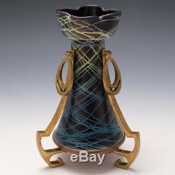 Pallme-Konig Vase With Brass Mounts 1900-05
