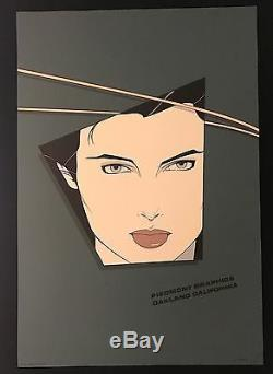 Patrick Nagel Piedmont Graphics 1982 Signed in Plate