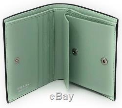Prada x James Jean Liberty Rabbit Bi-Fold Compact Petite Wallet Green Bunnies
