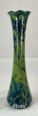 Rare Moorcroft Macintyre Florian Violets Vase Made in England! W Moorcroft c1915